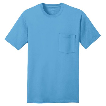 Port & Company Men's Chest Pocket Fashionable T-Shirt](Gold Chestplate)
