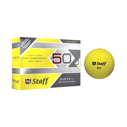 Wilson W/S 50 Elite Golf Balls, Yellow, 12pk