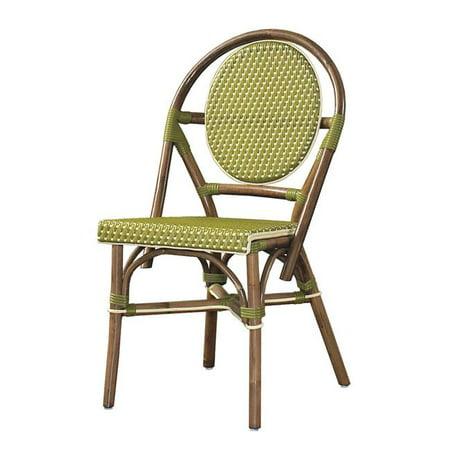 PBA12-GRN-S-2 Paris Bistro Chair - Green, Set of 2 ()