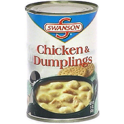 ***Discontinued by kehe 06_29***Swanson Chicken & Dumplings Soup, 15 oz (Pack of 12)