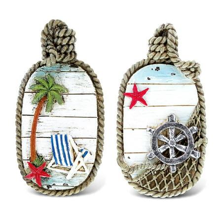 CoTa Global Wall Decor - 3D Designs - Nautical Beach Magnet (2pc Set) - Item #7348 Yard Designs Magnet