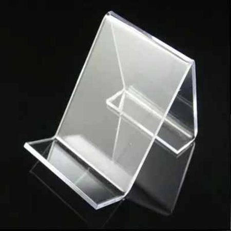 Ustyle 5pcs Acrylic Clear Cell Phone Mount Holder Durable Universal Business Card Stand Holder for Mobile Devices - image 3 of 9