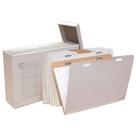 Advanced Organizing Systems Vertical Flat File System Filing Box (Set of