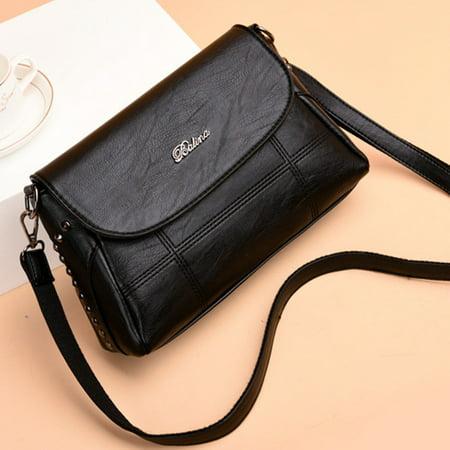 Tailored Women's Fashion Shoulder Bag Solid Color Messenger Bag Mummy Bag Wild Handbag ()
