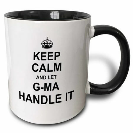 3dRose Keep Calm and Let Gma Handle It Fun Funny Grandma Grandmother Gift Coffee Mug - Fun Coffee Mugs