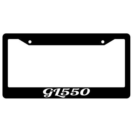 Gl 550 Script Black Plastic License Plate Frame Ama
