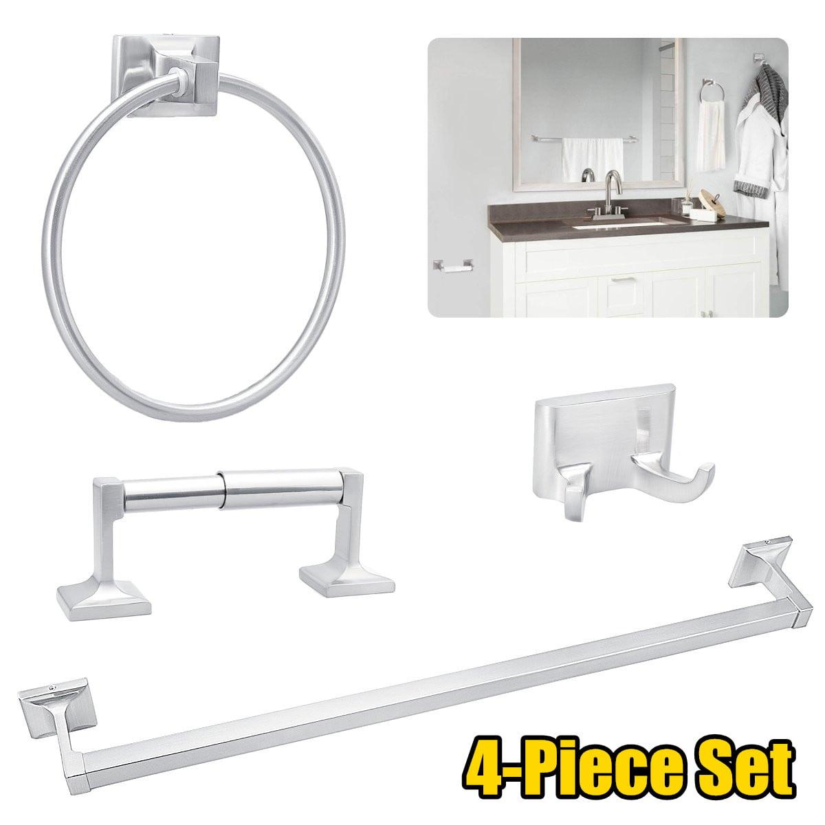 4pcs Bathroom Hardware Stainless Steel