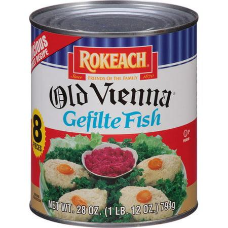 Rokeach Old Vienna Gefilte Fish, 28 oz, (Pack of 12)