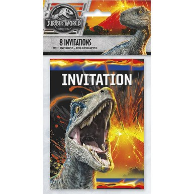 Jurassic World Birthday Party Invitations 8 Per Pack