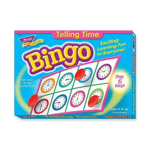 Trend Telling Time Bingo Game - Theme/subject: Learning - Skill Learning: Time, Language (TEP6072)