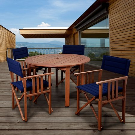 Amazonia  Orlando Blue 5-piece Round Patio Dining Set ()