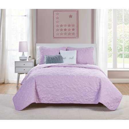 VCNY Home Lilac Happy Dreamer 4/5 Piece Bedding Quilt Set