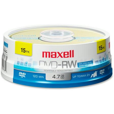 Platinum Dvd Rw (Maxell, MAX635117, 4.7GB DVD-RW Pack, 15)