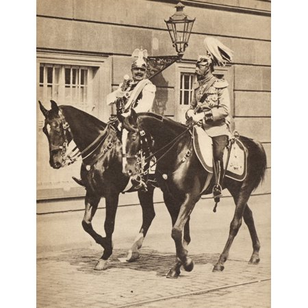 1936 Replica Sky King - King George V And Kaiser Wilhelm Ii Leaving Potsdam To Attend A Review Of The Troops In 1913 George V 1865 To 1936 King Of England And Emperor Of India Wilhelm Ii 1859 To 1941 German Emperor And King