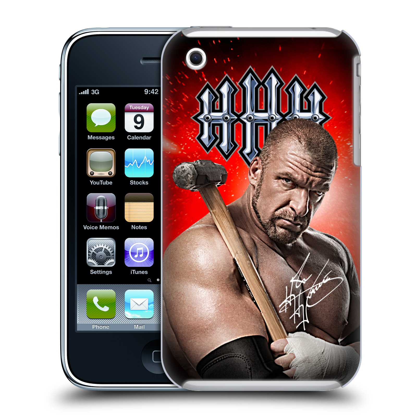 OFFICIAL WWE TRIPLE H HARD BACK CASE FOR APPLE IPHONE PHONES