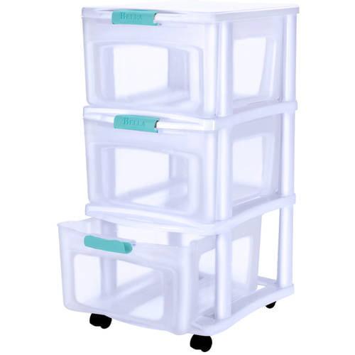 Bella Storage Solutions 3-Drawer Locking Cart, Medium