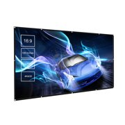 150 inches Projector Screen Widescreen 16:9 Portable Projection Screen Foldable Indoor Outdoor Projector Movies Screen for Home Office