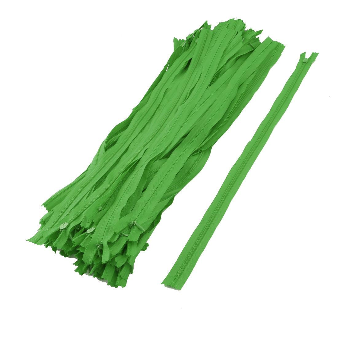 Dress Skirt Pants Invisible Zipper Sewing Craft Tool Green 20 Inch Length 100pcs
