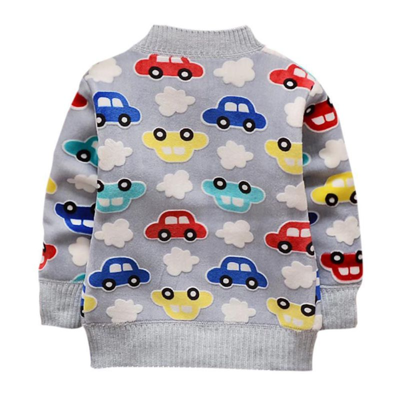 Children/'s Super Soft Jumper Car Print Sweatshirt