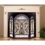 Meyda Tiffany 48103 Tiffany Glass Stained Glass / Tiffany Fireplace Screen From The Floral