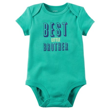 Little Brother Green Car - Carter's Baby Boys' Best Little Brother Bodysuit, 18 Months