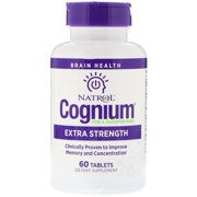 Natrol Cognium Extra Strength 400mg Tablets 60 Tablet, Pack of 2