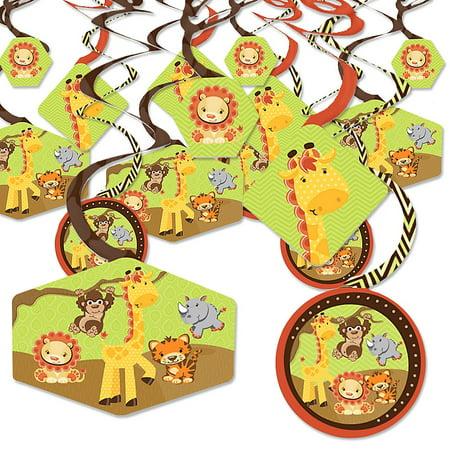 Funfari - Fun Safari Jungle - Baby Shower or Birthday Party Hanging Decor - Party Decoration Swirls - Set of 40](Baby Shower Safari Decorations)