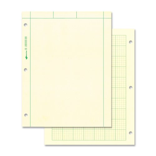 REDIFORM OFFICE PRODUCTS                           Computation Pad, Quadrille Rule, 11 x 8-1/2, Green, 100 Sheets