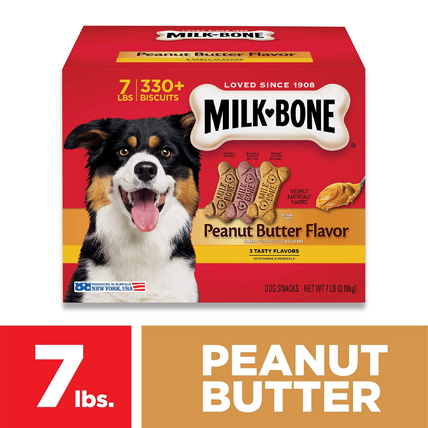 Milk-Bone Peanut Butter Flavor Dog Treats Variety Pack - Small/Medium - 7 lb.