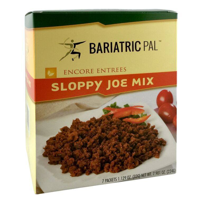 Click here to buy BariatricPal Protein Entree Sloppy Joe Mix.