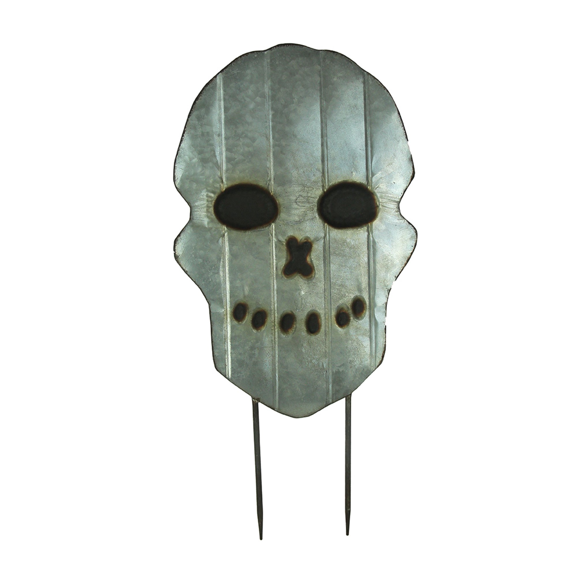 Metal Scary Skull Face Halloween Yard Stake Lawn Decoration