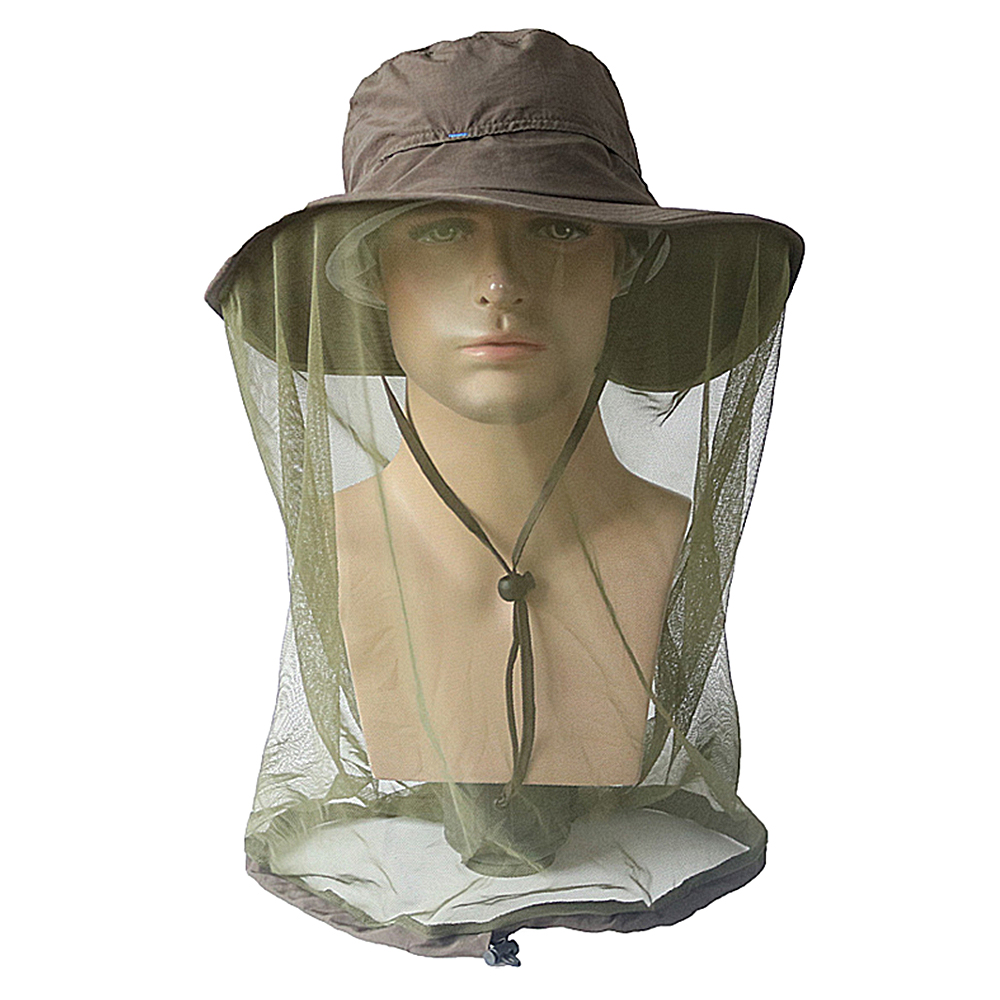 Sun visor Head Face Protector Cap Mosquito Net Hat Fishing Outdoor Camping Adult