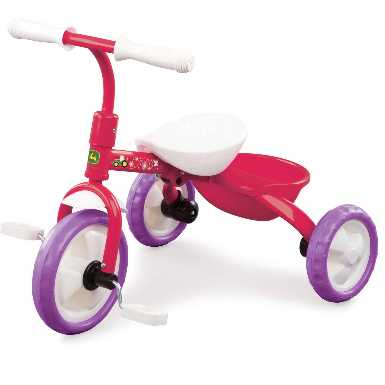John Deere Steel Tricycle, Pink