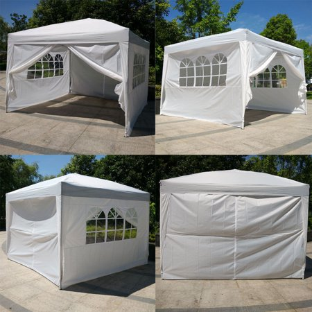 Zimtown 10' x10' Ez POP up Wedding Party Tent Folding Gazebo