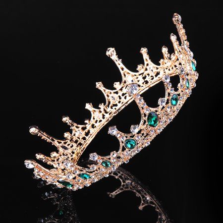 LuckyFine Crystal Baroque Princess Crown Tiaras Prom Party Wedding Bridesmaid Hair Piece Accessories - Today's Special -