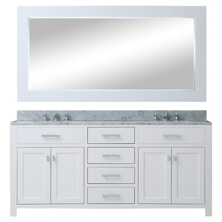 Water Creation Madison 72 in. Double Bathroom Vanity (Hardwood Bathroom Vanity)