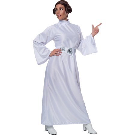 Princess Leia Star Wars Adults Halloween Costume + Wig - Lei Costume