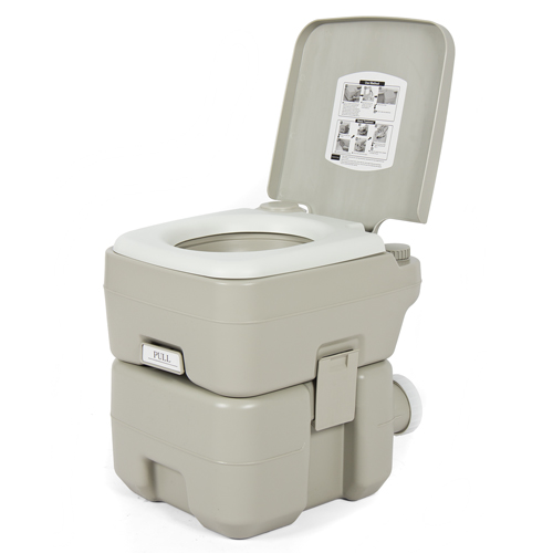 Portable Toilet 5 Gallon Dual Spray Jets Travel Outdoor Camping Hiking Toilet by Best Choice Products
