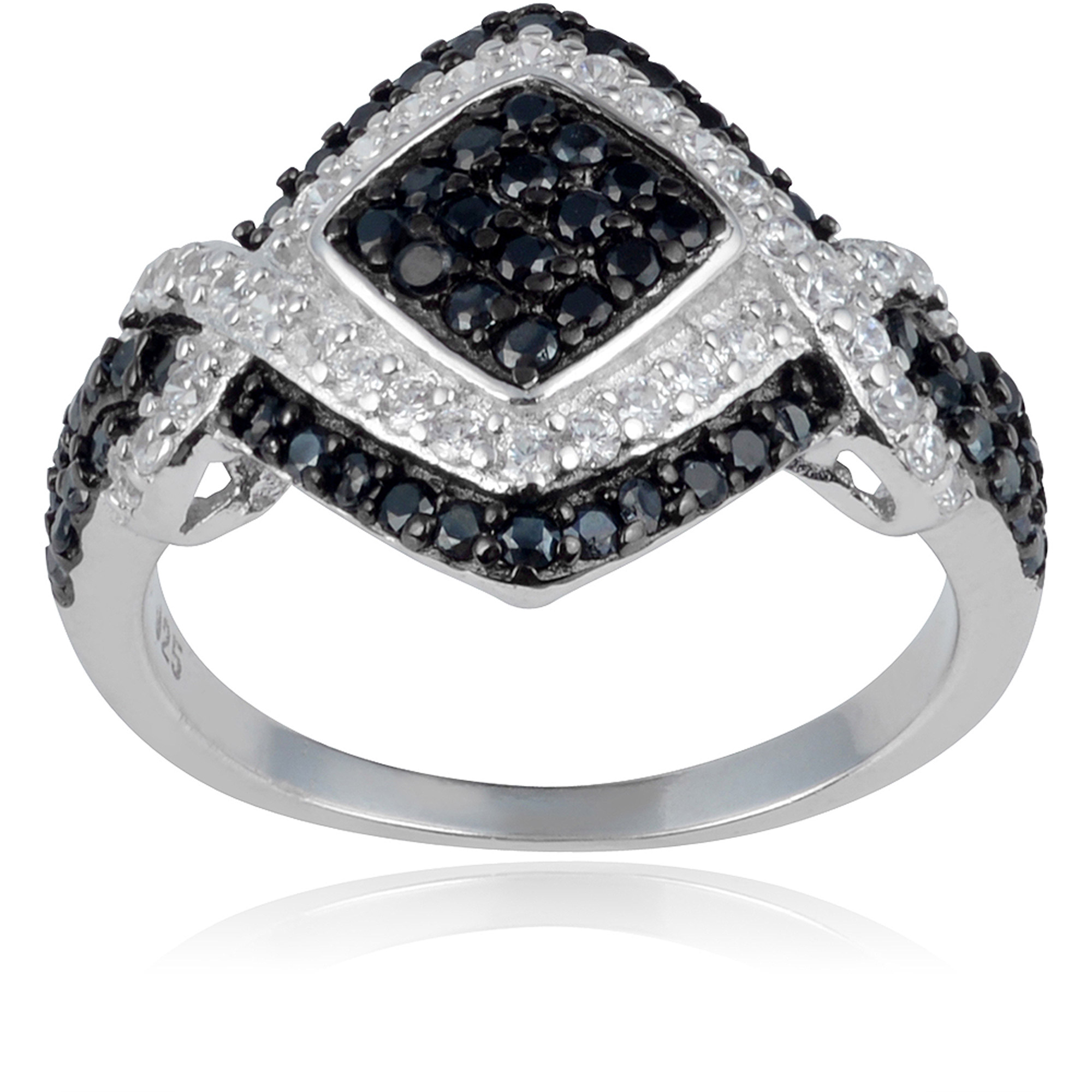 Alexandria Collection Women's Round-Cut CZ Sterling Silver Engagement Ring