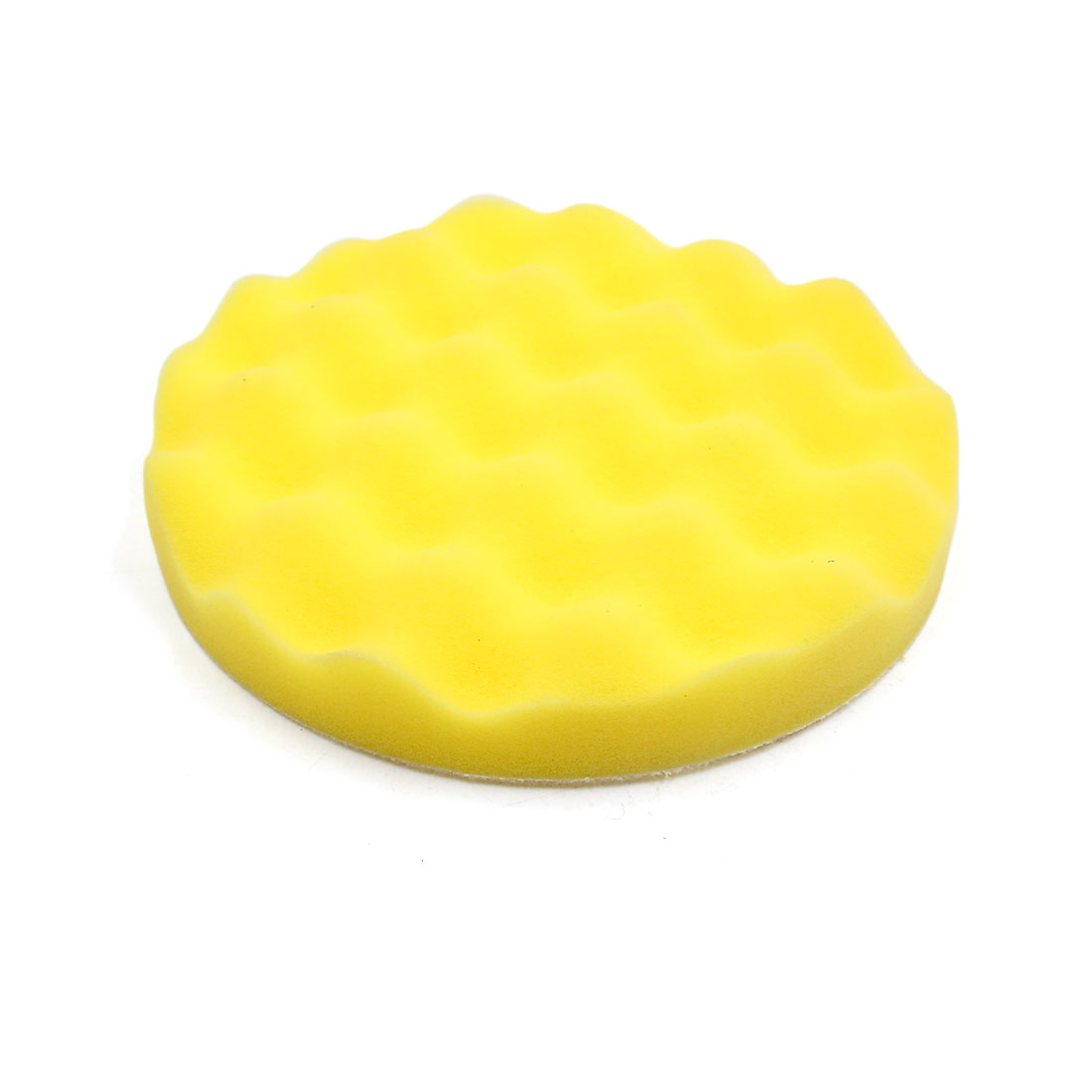 "7"" Yellow Car Waxing Polish Foam Washing Sponge Wax Cleaning Plate 2pcs - image 3 de 4"
