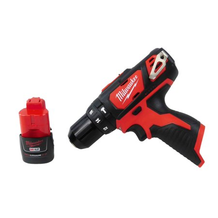 Milwaukee 12V 2408-20 Hammer Drill with48-11-2420 2Ah Battery Pack