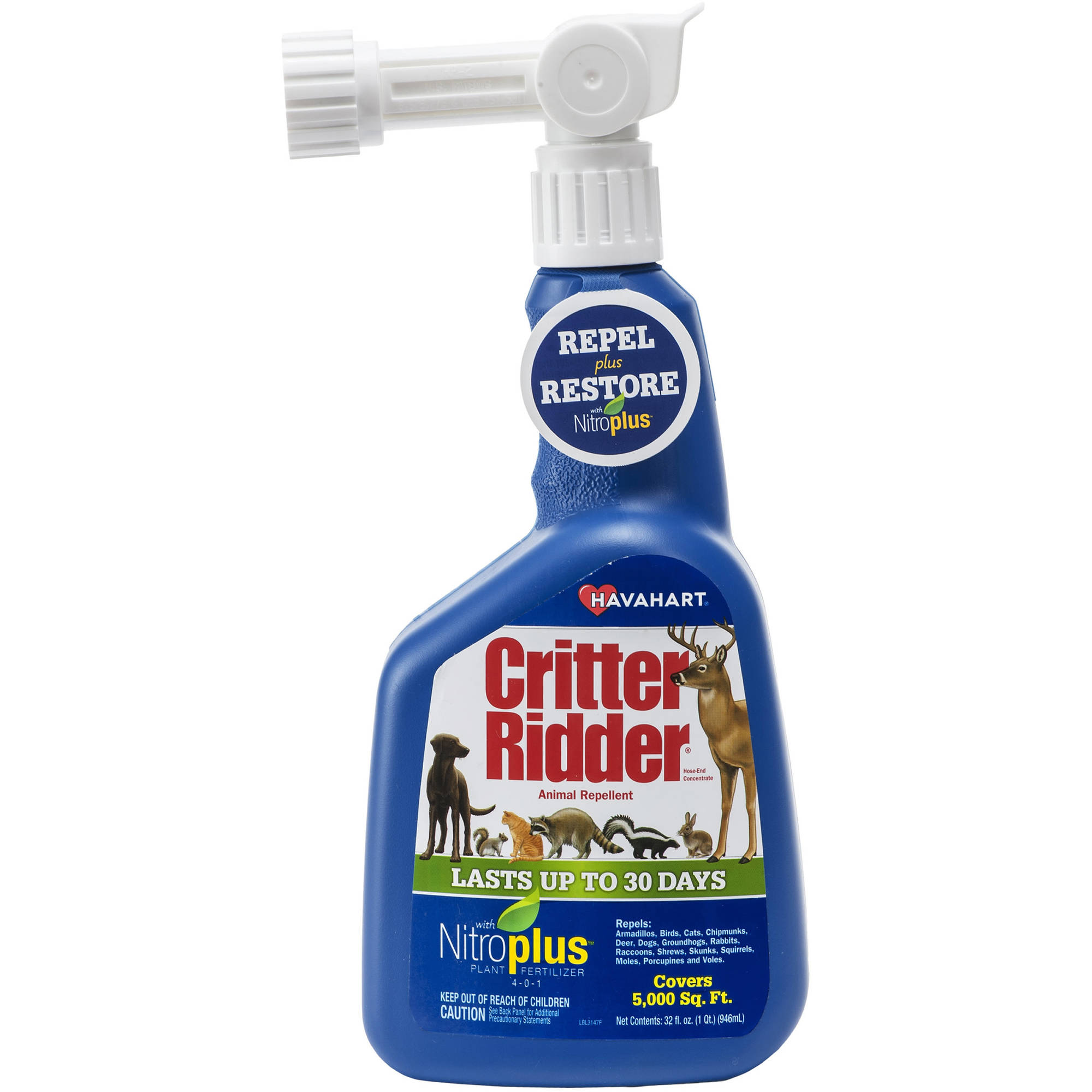 Havahart Critter Ridder 32 oz Animal Repellent with NitroPlus