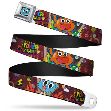 Gumball Face Close Up Black Full Color Gumball & Darwin By The Power Of Seatbelt Belt (Face Gumballs)