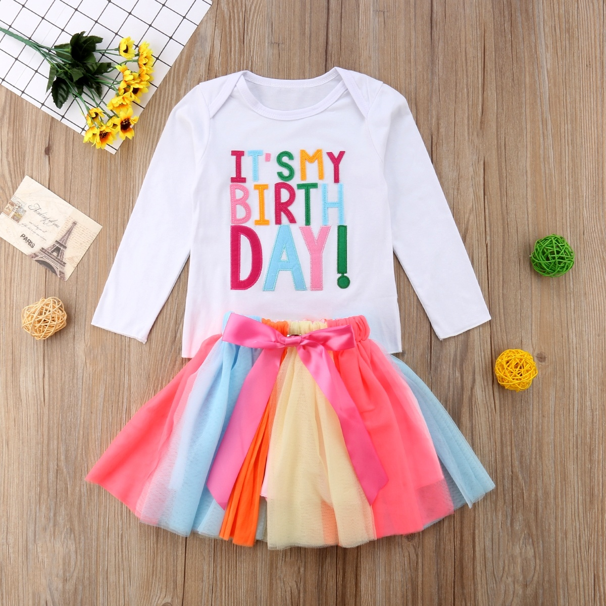 1a5aee15b Baby Girl Kid Toddler ITS MY Birthday T-shirt+tutu Skirt Dress Outfit  Clothing NEW