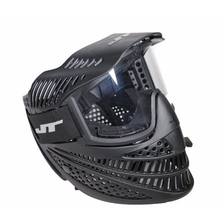 JT Elite Prime Paintball Mask with Fog Resistant Lens - Black (Jt Black Thermal Paintball Mask)