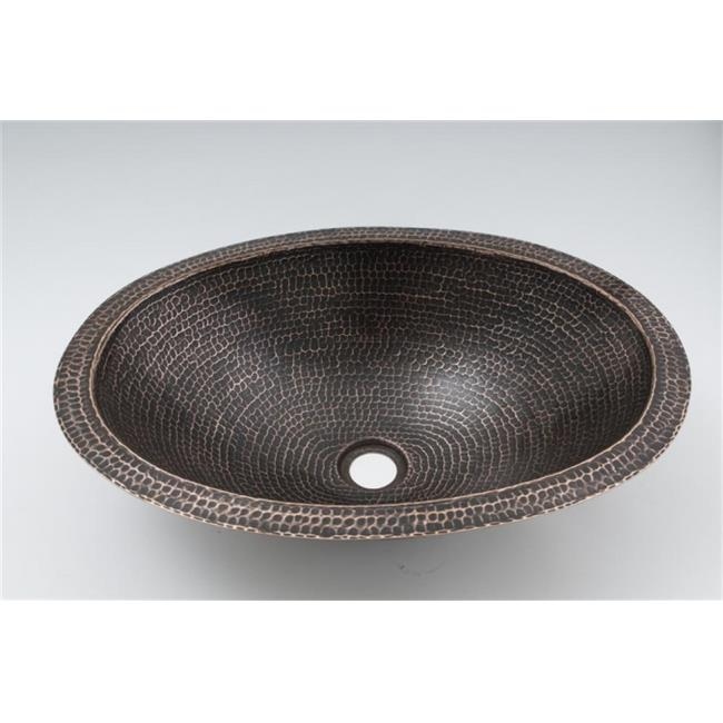 Space Enterprises, LLC. DBA Ambiente CS-BAT-OVA-PLA-SD 19 in. Copper Handmade Bathroom Oval Plain Sink