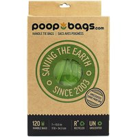 "Poop Bags With Handle Ties 7""X13"" 120ct-"