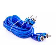 Sound Quest SRCB3 Competition Series Blue Twisted RCA Interconnects