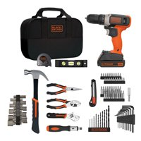Deals on BLACK+DECKER 20V MAX Lithium Ion Drill 84 Piece Project Kit