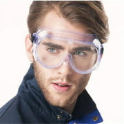 Safety Goggles Personal Protective Equipment, Clear Polycarbonate Standard Safety Glasses Dust-Proof Wind-Proof Protective Glasses
